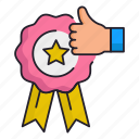guarantee, license, satisfaction icon