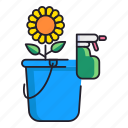 bucket, cleaning, spring icon
