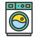 cleaning, household, housekeeping, laundry, washing, washing machine icon