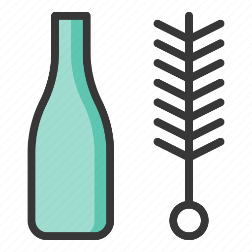 Bottle brush, brush, cleaning, cleaning equipment, household icon - Download on Iconfinder