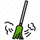 broom, clean, cleaning, dirt, sikat, sweeper, wash icon