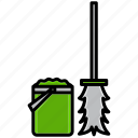 bucket, bucket mop, clean, cleaning, dirt, mop, wash icon