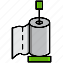 clean, cleaning, dirt, paper, paper towels, toilet, wash icon