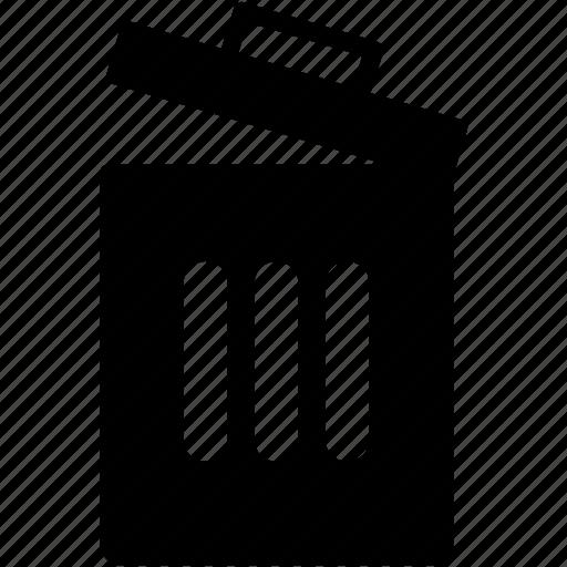 dustbin, garbage, litter bin, recycle bin, trash icon