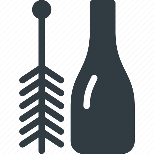 bottle, brush, clean, cleaner, cleaning, glass icon