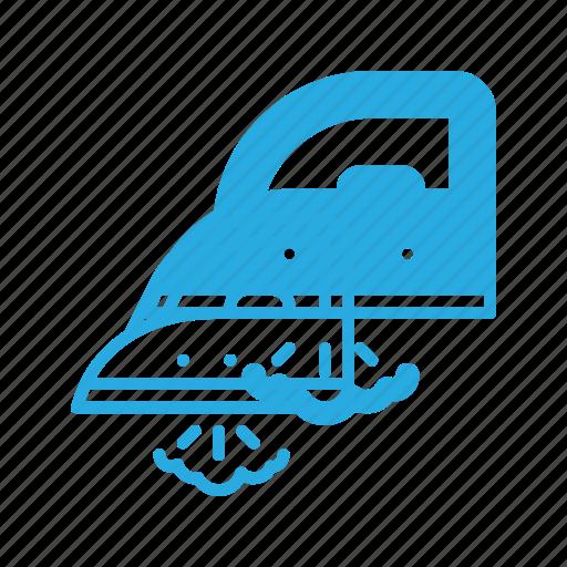 appliance, housekeeping, iron, steam icon