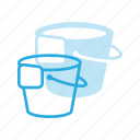 bucket, clean, cleaning, floor, housekeeping, wash icon