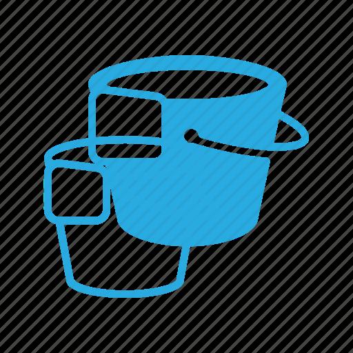 bucket, clean, cleaning, floor, housekeeping, wash icon