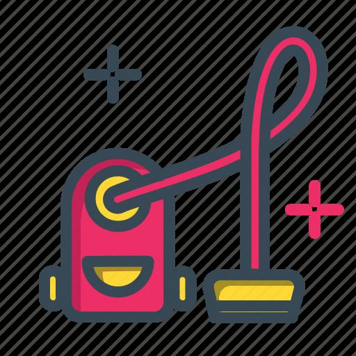 cleaning, set, vacuum, vacuum cleaner icon