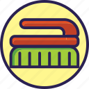 broom, cleaning, set, toilet icon