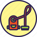 cleaning, set, vacuum, vacuum cleaner icon