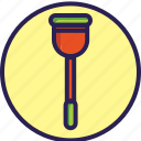 circle, cleaning, set, suction, toilet, wc icon