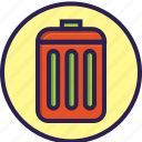 cleaning, set, trash, trash can icon