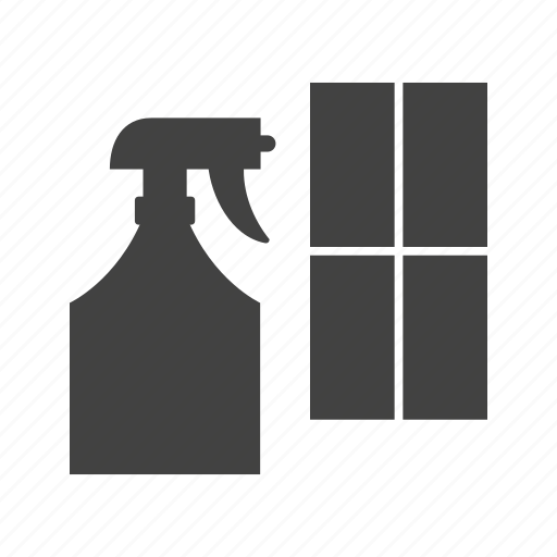 Agent, bottle, chemical, cleaning, equipment, tool, window icon - Download on Iconfinder
