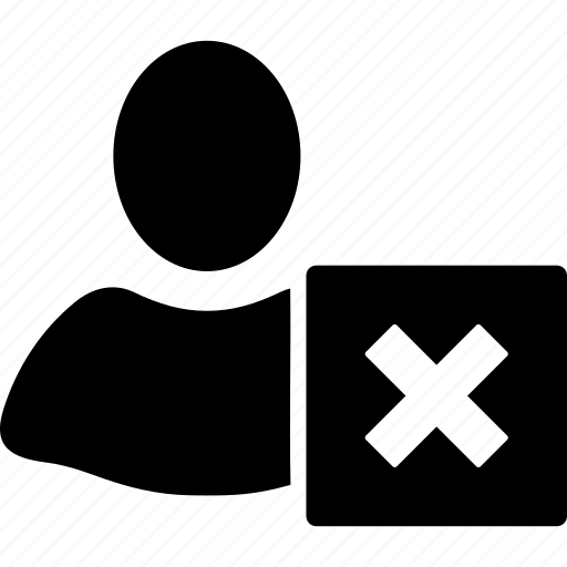 client profile, close, customer, delete, person, remove, user account icon