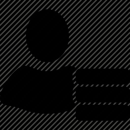 admin, client profile, customer, data, database, person, user account icon