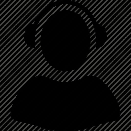 call center, client profile, operator, reception, receptionist, support, user account icon