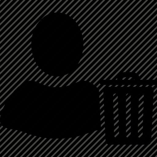 client profile, customer, delete, person, remove, trash, user account icon