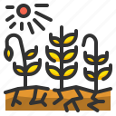 bad, wheat, agriculture, harvests, shovel, grain, ingredient icon