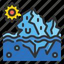 ecology, environment, iceberg, landscape, melt, melting, polar icon