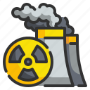 alert, hospital, nuclear, radiation, signaling icon