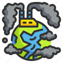 air, contamination, dust, environment, industry, pollution icon