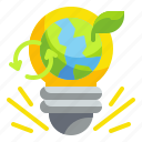 ecology, electricity, idea, invention, lamp, light, plant icon