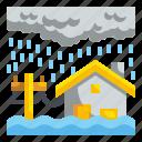 disaster, flood, flooding, insurance, inundation, rain, weather icon