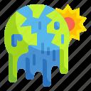 earth, global, hot, temperature, thermal, warming, warning icon