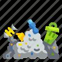 contaminated, garbage, junk, pollution, rubbish, trash, waste icon