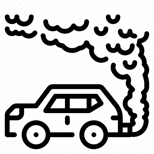 Automobile, car, contamination, exhaust, pollution, transportation, vehicle icon - Download on Iconfinder