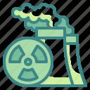 nuclear, hospital, signaling, radiation, alert icon