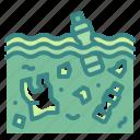 degradation, nature, ocean, sea, sewage, water, wave