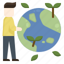 change, climate, earth, ecosystem, green, plant, world icon