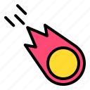 burn, climate, comet, fire, flame, meteor icon