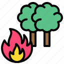 burn, climate, fire, forest fire, tree, wildfire icon