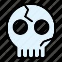 bone, climate, dead, skeleton, skull icon