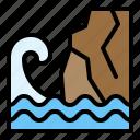 cliff, climate, erosion, sea icon