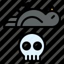 animal, bird, climate, death, poison, pollution, skull icon