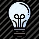 electronics, idea, light, lightbulb