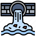 pollution, environment, toxic, residue, water, ecology, tube icon