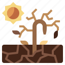 disaster, drought, earth, ecology, environment, grid, planet icon