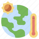 ecology, environment, global, thermal, thermometer, warm, warming icon