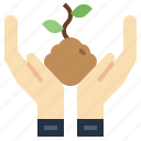 ecology, enviroment, gestures, hand, hands, protection, tree icon