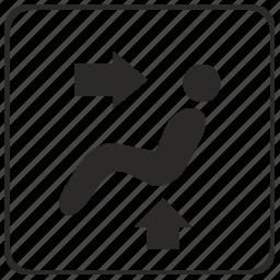 back, climate, control, head, seat icon