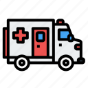 ambulance, car, emergency, hospital, medicine icon