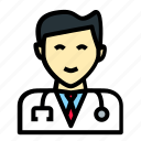 clinic, doctor, head, insurance, man, medicine, stethoscope