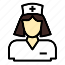 female, healthcare, hospital, medicine, nurse icon