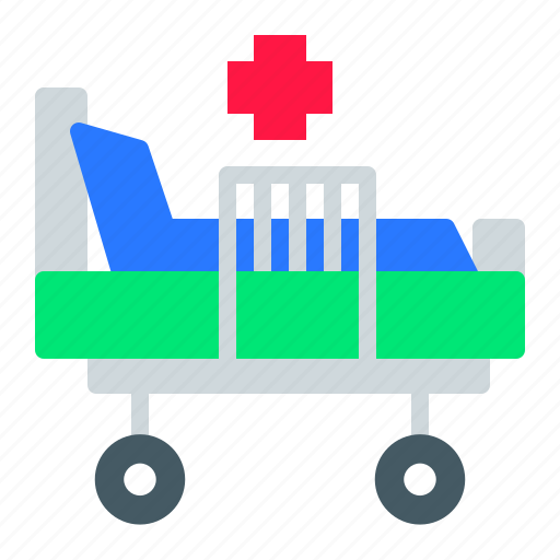 bed, healthcare, hospital, medical, rest icon