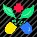 alternative, green, herbal, medication, medicine, pills icon